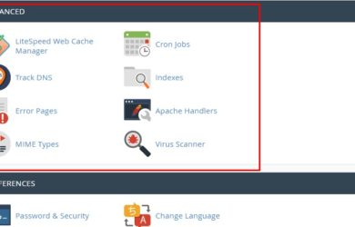 Menu Advanced pada cPanel