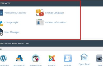 Menu Preferences pada cPanel